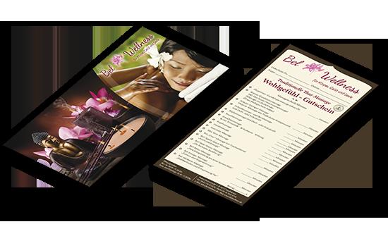 Massage und Wellness  Geschenkgutschein