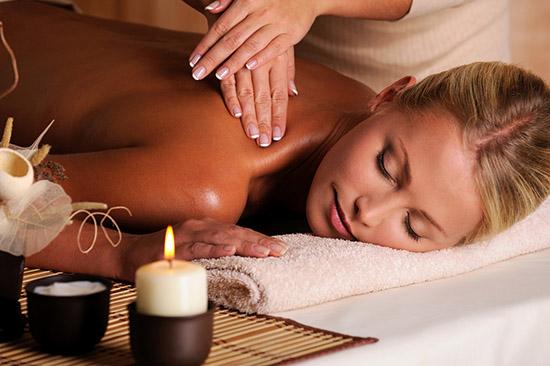 masseur doing massaging of female neck